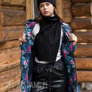 szaliki szalik just warm czarny, bluza, kamizelka, komplet, sukienka, kurtka