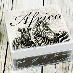 Herbaciarka/pudełko - Afryka, pudełko, szkatułka, herbaciarka, zebra,