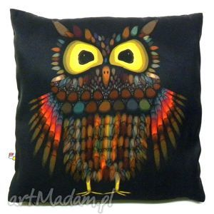 Poduszka dekoracyjna z sową - poduszka, sowa, dekoracyjna, miękka