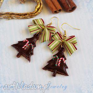 kolczyki świąteczne pierniczki ciastka na prezent, kolczyki