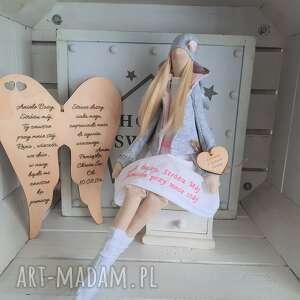 hand-made lalki anioł pamiątka pierwszej komunii świętej