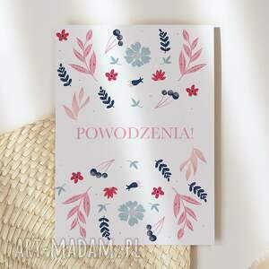 kartka okolicznościowa w kwiaty powodzenia cardie
