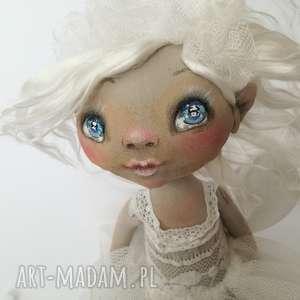 figurka tekstylna aniołek kasieńka - anioł, unikat, jedwab, chrzest, urodziny