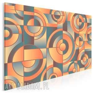 obraz na płótnie - kształty koła geometria 120x80 cm 83301, kształty