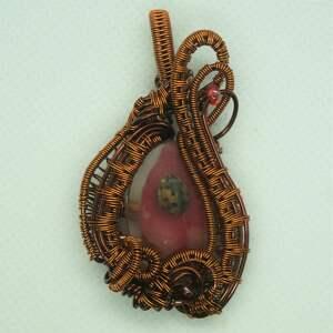 rokokowa biedronka - zawieszka z prawdzowej biedronki liścia - jesienny