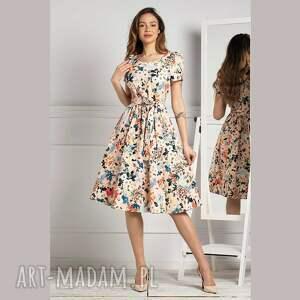 sukienka anita midi jusenia, midi, rozkloszowana sukienka