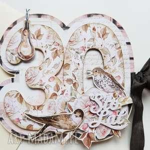 Scrapbooking - kartka urodziny rocznica kartki iride handmade