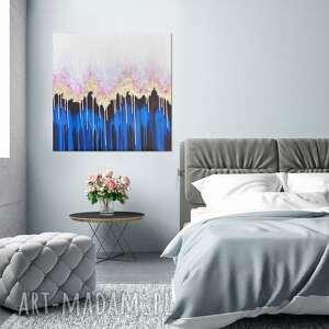 Abstrakcyjny obraz ręcznie malowany - enchanted ii 60x60 cm
