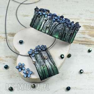 niezapominajki - komplet biżuterii, oryginalna biżuteria, biżuteria na prezent