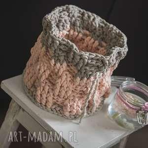 Kosz handmade sznurkowy , sznurek, szydełko, eco, pokój, dekoracja