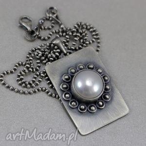 Perła w srebrze - wisior na łańcuszku, perła, słodkowodna, srebro, wisior, łańcuszek