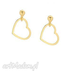złote kolczyki serduszka sotho - minimalistyczne, delikatne, serce