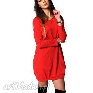 Tunika casual tuniki knitcat sukienka, bawełna, zakładki,