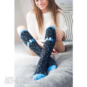 bielizna skarpetki sportowe mad socks - blue stardust, skarpetki, prezent