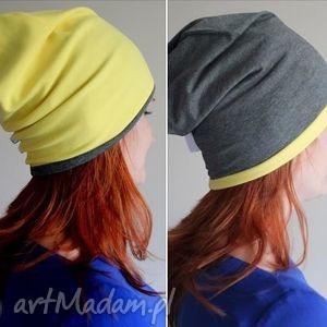 czapka dresowa dwukolorowa 2 w 1, dresowa, dwukolorowa, czapka, smerfetka