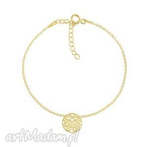 celebrate - circle 2 bracelet g, kółko, ażurowy, celebrytka