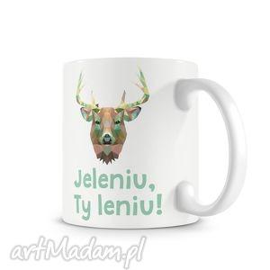 Prezent KUBEK - jeleniu, Ty leniu!, jeleń, leń, kubek, prezent, śmieszne
