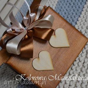rustykalne pudełko na obrączki, ślub, wesele, poduszka, księgi