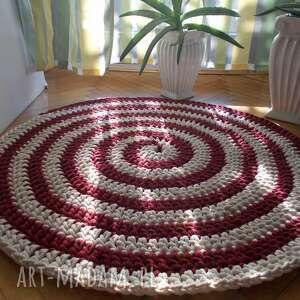 dywan zakręcony, sznurek bawełniany, szydełkowy, ze sznurka
