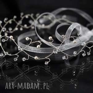 Ślubna opaska, ślub, swarovski, kryształ, perła, ozdoba