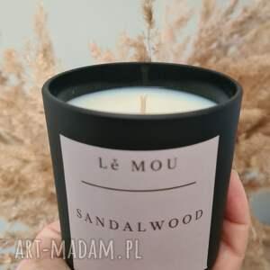 handmade świeczniki świeca roślinna sandalwood