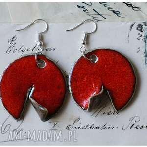 Zawijaski czerwone wylegarnia pomyslow ceramika, kolczyki