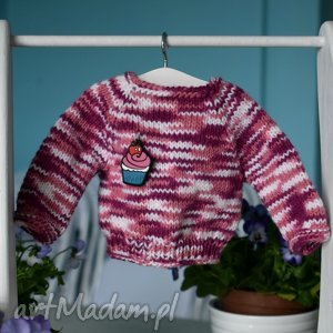 hand-made zabawki sweterek dla lalki ok. 40 cm