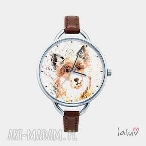 Prezent Zegarek z grafiką PIES, prezent, przyjaciel, zwierzak, łapa, buda, słodki