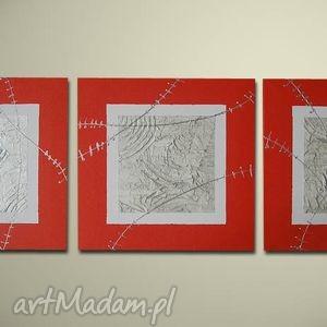 obrazy duży obraz nowoczesny 25 - 150x50cm, obraz, duzy, czerwony, dom