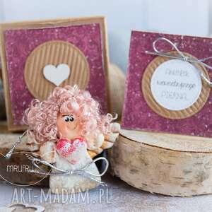 kartki aniołek wewnętrznego piękna personalizowana mini kartka, pudełeczko
