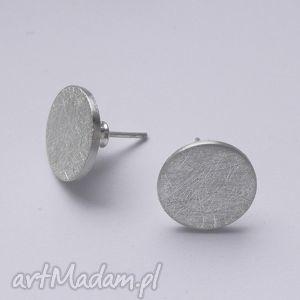Okrąg kolczyki katarzyna kaminska srebro, zmatowione
