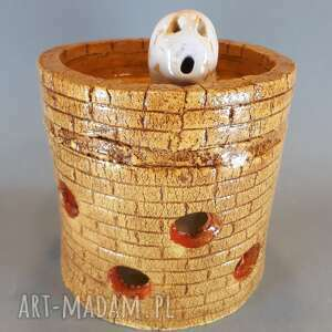 vrs ceramics domek lampion gliniany, tealight, upominek, ceramika