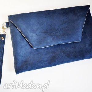 handmade kopertówka kobalt