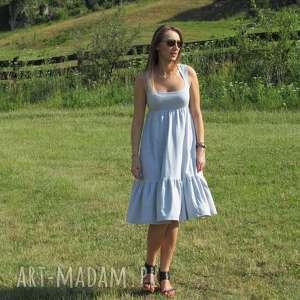 54kr-dzianinowa sukienka z falbaną, lalu, sukienka, dzianina, bawełna, falbana