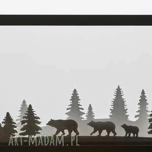 dekoracja przestrzenna motyw niedźwiedzie, ramka, zima