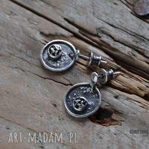 srebrne pastylki, srebrne, surowe, wiszące, małe, pod choinkę prezent