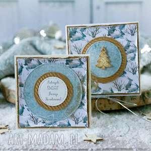 hand-made prezenty święta podarek świąteczny - mini kartka, pudełeczko. Boże