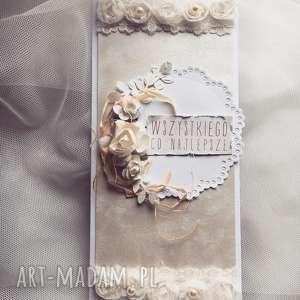scrapbooking kartki kartka w dniu ślubu, ślub, życzenia, prezent, uroczystość