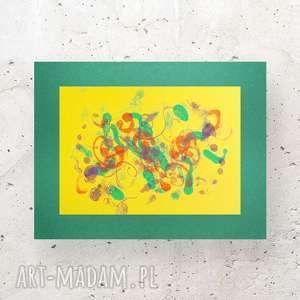 ręcznie malowana abstrakcja, nowoczesna dekoracja na ścianę, grafika do loftów