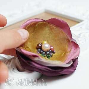 broszki modna broszka kwiatek, do sukienki, upominek, broszka, przypinka