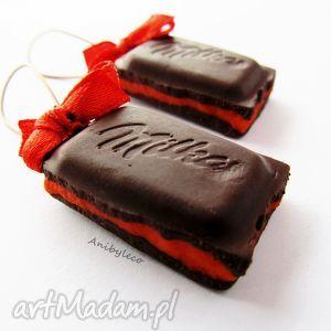 hand made kolczyki kolczyki czekolada
