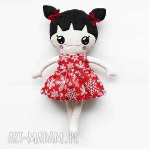 ręcznie robione lalki szmaciana lalka lalalila - poofy cat - śnieżynka