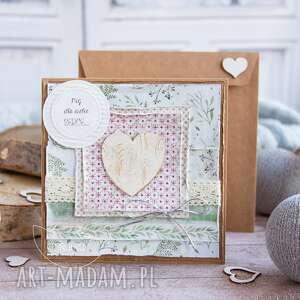 Przepiękna kartka z sercem dzień babci i dziadka personalizacja