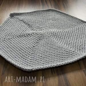 prezent na święta, dywanik ze sznurka hand made, szary, dywan, dywanik