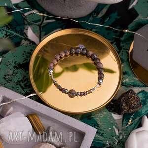 bransoletka high z jaspisów granatów turmalinów szafirów i srebrnych hematytów