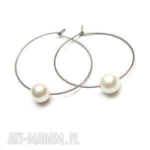 alloys collection /one pearl/ white - kolczyki