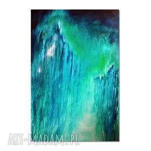 Głębia 21, abstrakcja, nowoczesny obraz ręcznie malowany, obraz,