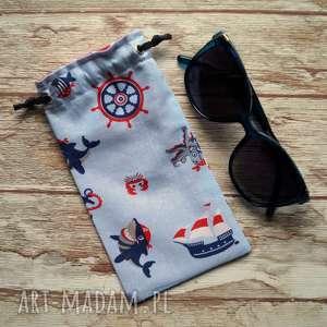 etui / bawełniany woreczek na okulary, słoneczne, woreczek, marynarskie