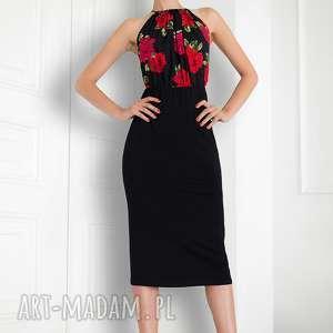Sukienka bez ramion czarna , sukienka, uniwersalna, wiązana, elegancka, kasiamiciak