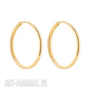 złote kolczyki grube koła - kółka, klasyczne, duże